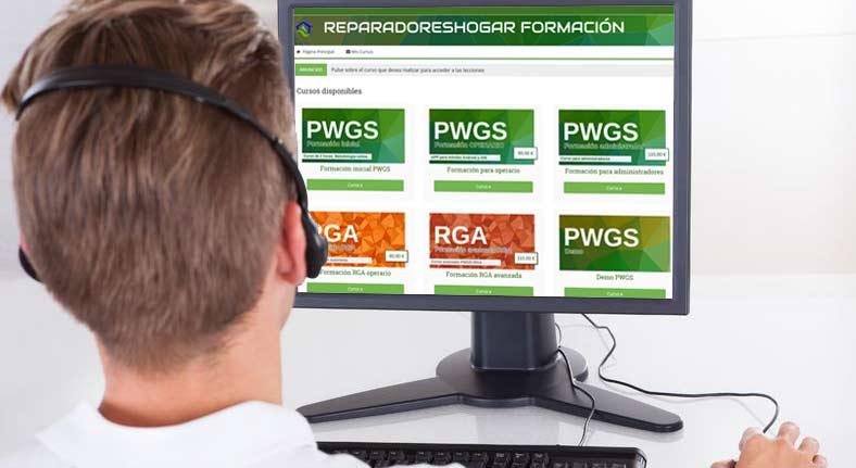 eformación para clientes de PWGS